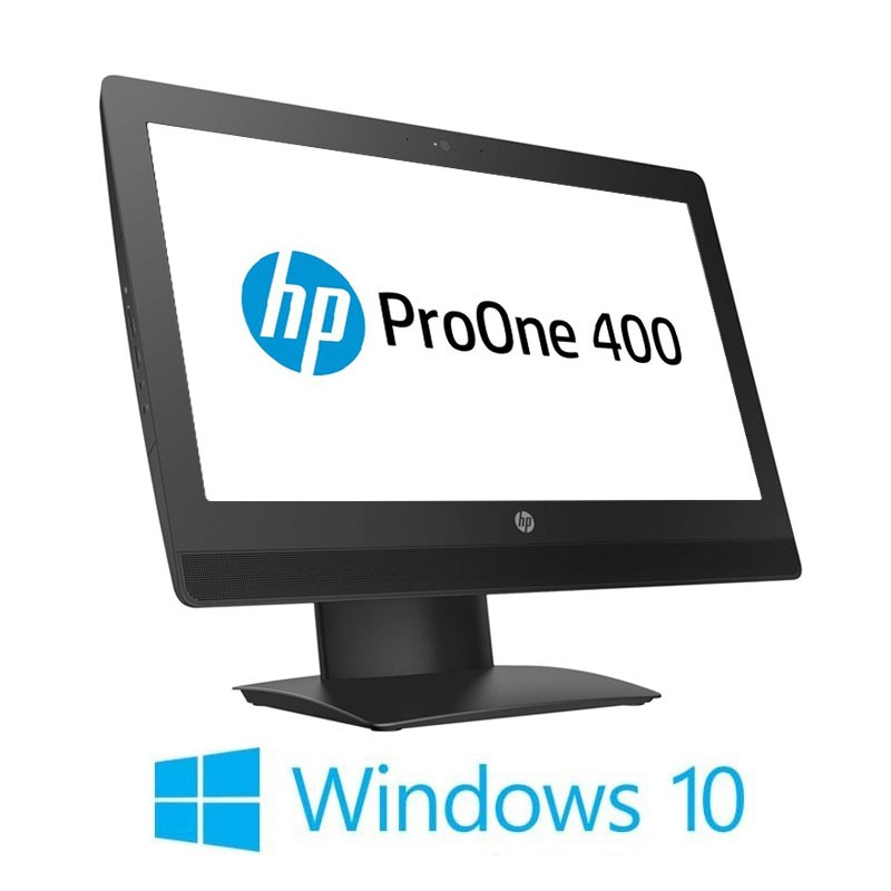 All-in-One HP ProOne 400 G3, i5-6500T, 240GB SSD NOU, 20 inci, Webcam, Win 10 Home