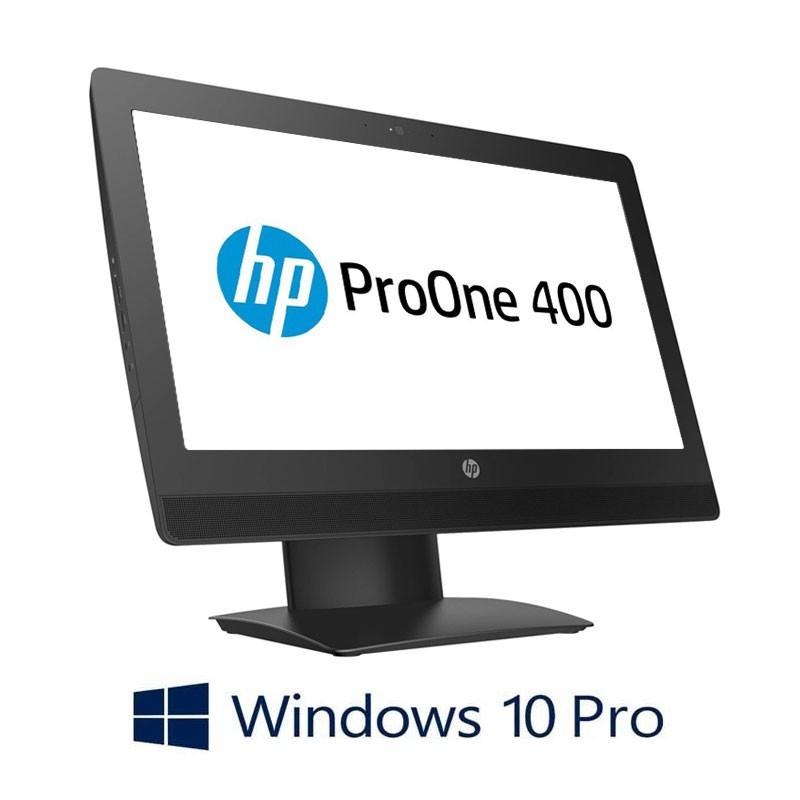 All-in-One HP ProOne 400 G3, i5-6500T, 240GB SSD NOU, 20 inci, Webcam, Win 10 Pro