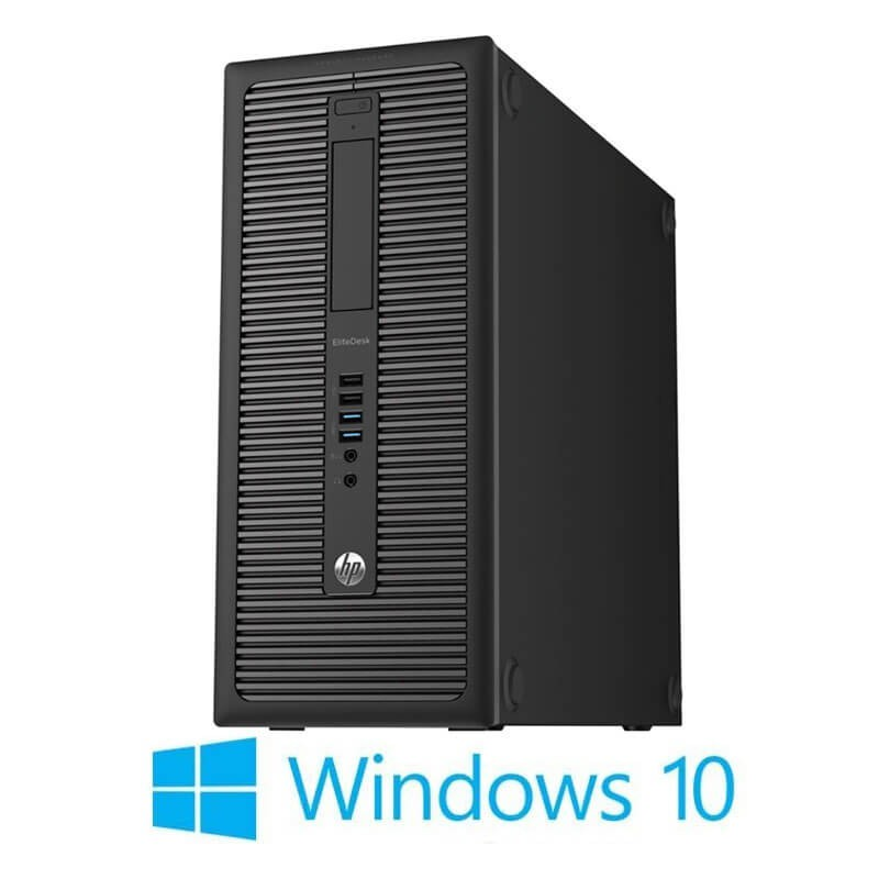 Calculator PCHP EliteDesk 800 G1 MT, Quad Core i7-4770, 240GB SSD NOU, Win 10 Home