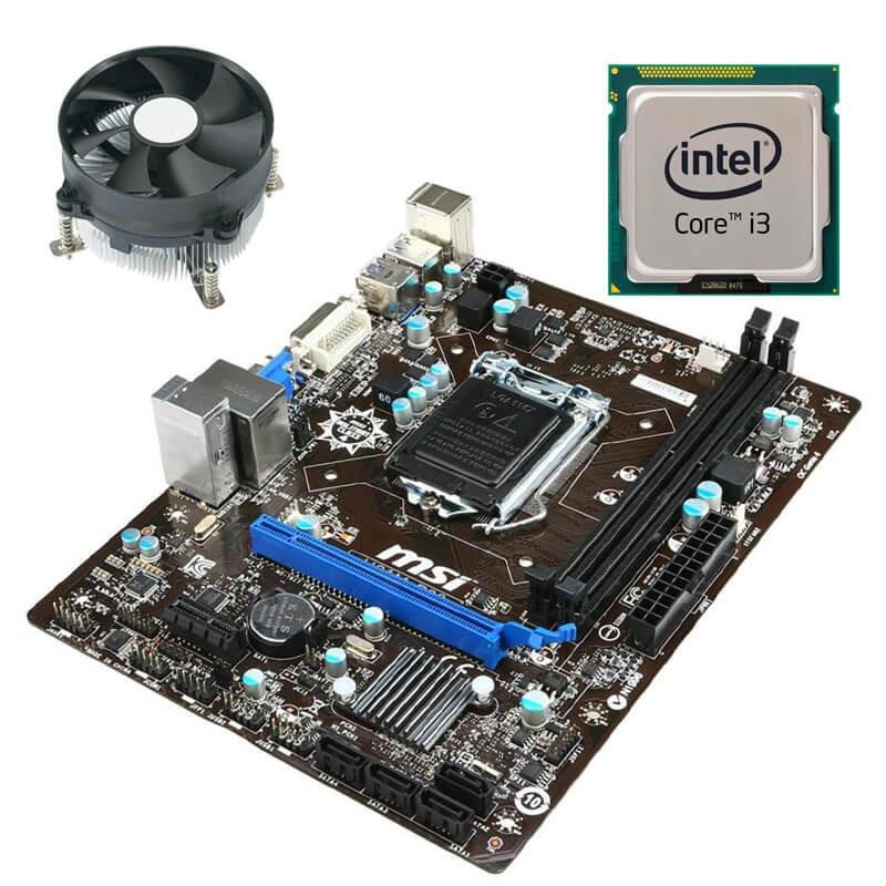 Kit Placi de baza MSI H81M-P33, Intel Core i3-4130, Cooler