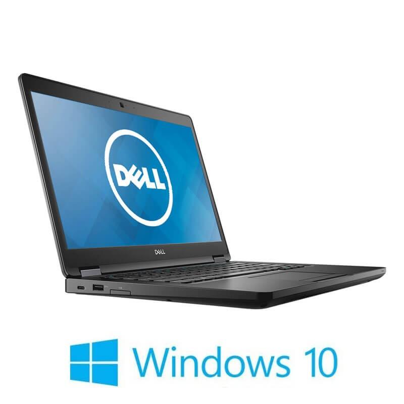 Laptop Dell Latitude 5490, Quad Core i5-8350U, SSD, Full HD, Webcam, Win 10 Home